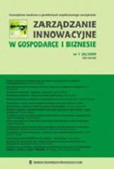 Zarządzanie Innowacyjne w Gospodarce i Biznesie